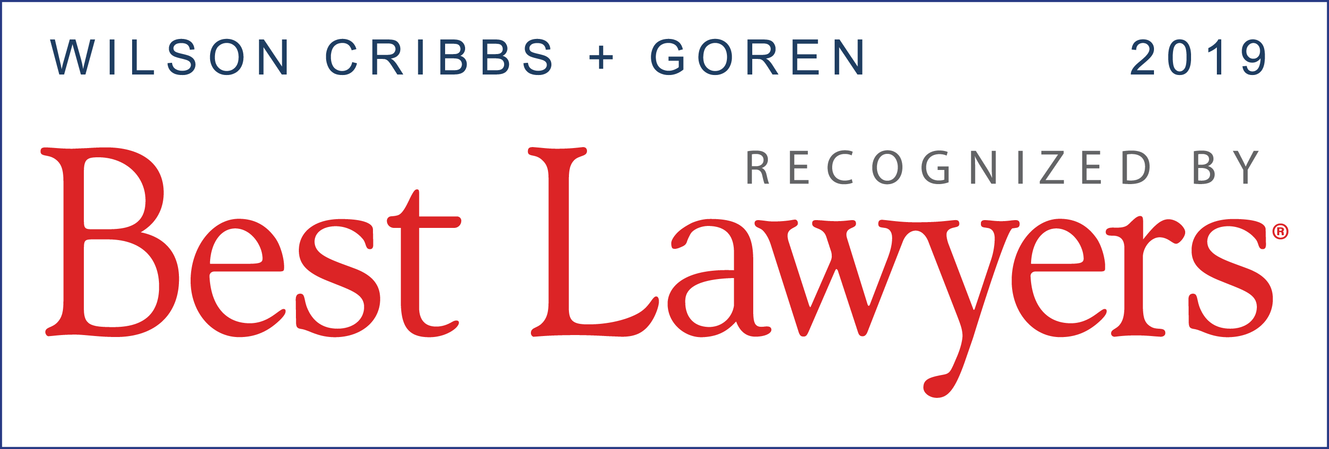 Best Lawyers - Wilson Cribbs and Goren